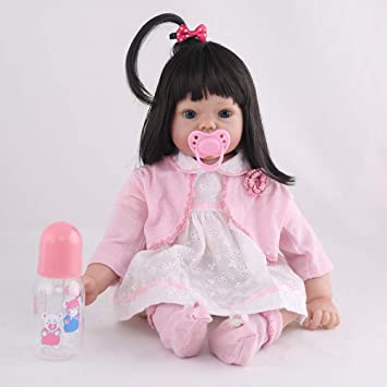 Doll Reborn Muñecas Niñas Ojos Abiertos 19.7 Pulgadas 50Cm ...
