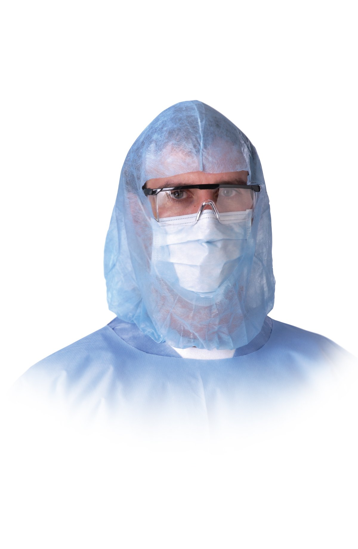 Medline NONSH600 Beard Covers, Spunbond, Latex Free, Blue (Pack of 300)