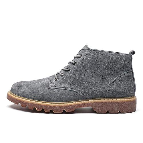 CHENJUAN Zapatos Moda para Hombre Botines de Trabajo Casual Simple y cómodo Clásico Tamaño Grande Botas Altas de Ocio: Amazon.es: Zapatos y complementos