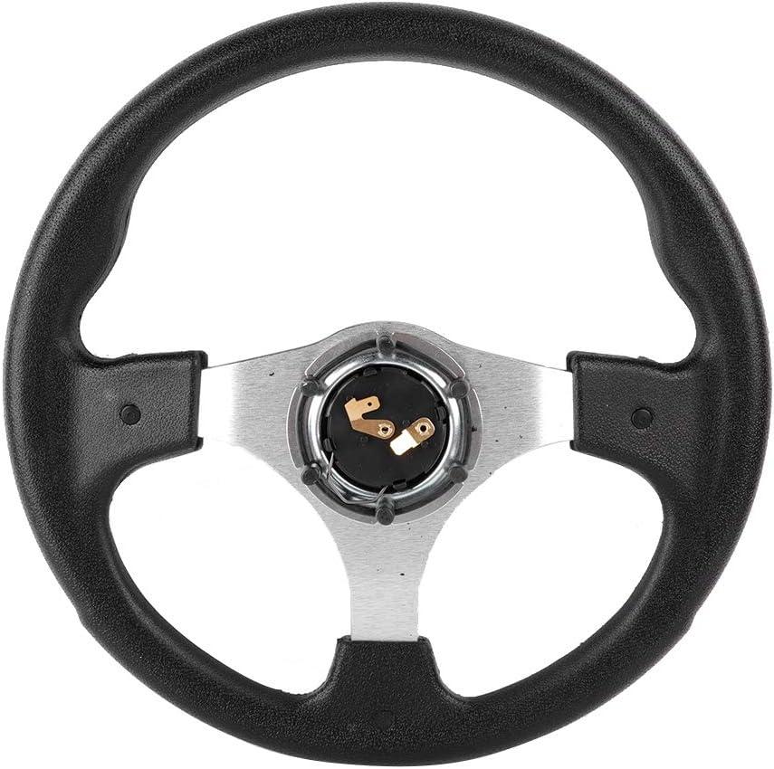 13in 320mm Universal PU Leather Car Sport Racing Drift Volante Blanco Gorgeri Volante Racing