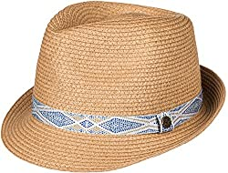Roxy Womens Sentimiento - Straw Fedora Hat - Women - S - Multicolor Natural Sm