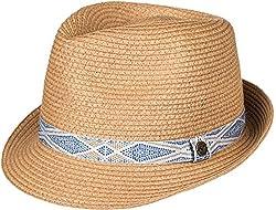 Roxy Womens Sentimiento - Straw Fedora Hat - Women - S - Multicolor Natural Sm