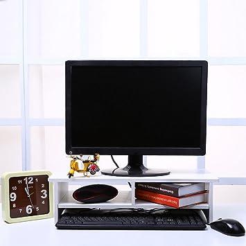 CRAVOG escritorio soporte de monitor LCD TV ordenador portátil elevador de protector de pantalla estante estantería