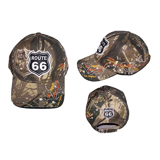 8d5f1a5831933 Image Unavailable. Image not available for. Color  Route 66 Highway Map  Baseball Caps ...