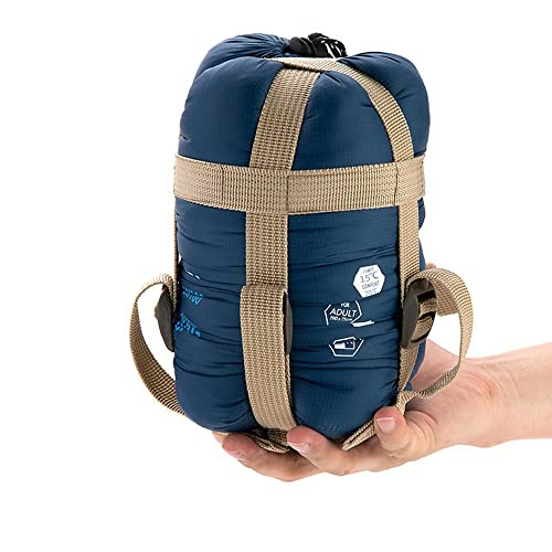 ECOOPRO Sleeping Bags Warm Weather Outdoor Camping Envelope Sleeping Bag for 3 Seasons (Spring, Summer, Fall) (Dark Blue)