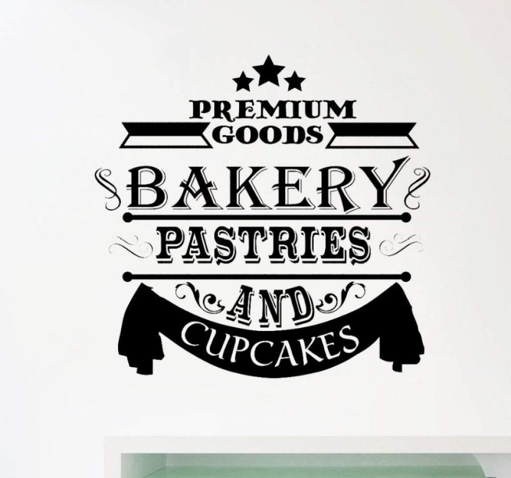 Wall Sticker Bakery Decal Window Stickers Cupcakes Decals Cafe Bakeshop Decoration Removable Home Decor Kitchen Wall Decals Mural 59x57cm by Chenyiting