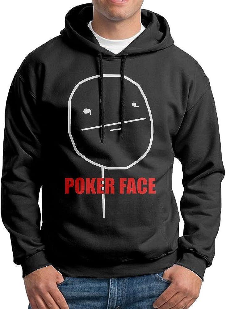 FDLB Men Poker Face Camper Classic Hoodie Sweatshirt Black