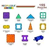 Kids Magnet Toys Magnet Building Tiles, 155 Piece