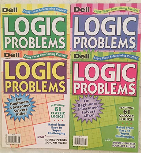 Lot of (4) Dell Logic Problems Puzzles Full Size Books 2017