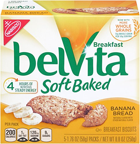 (belVita Soft Baked Banana Bread Breakfast Biscuits, 5 Count Box, 8.8 Ounce)