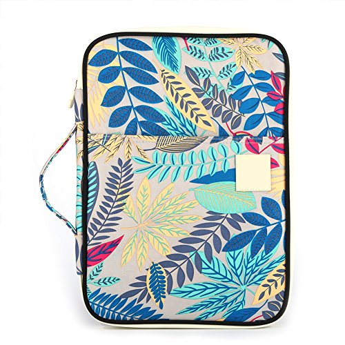 Travel Multi Waterproof New New Gray gray Ipads Style Functional A4 Leaves for Pattern Bags Organizer Pouch Zippered Case Document Pxvdqnv