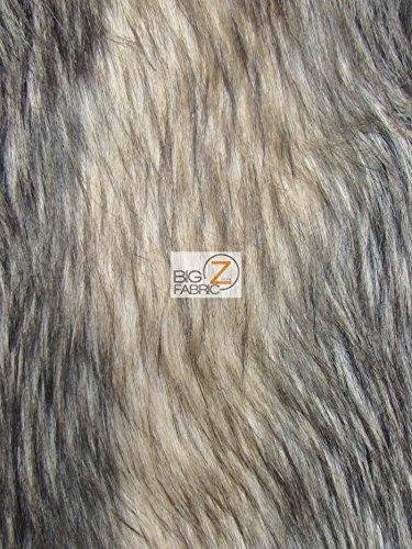 ANIMAL FAUX FUR FABRIC SOLD BY THE YARD LONG/SHORT PILE COSTUME COATS SCARFS ASSORTED (Palm (Civets Animals)