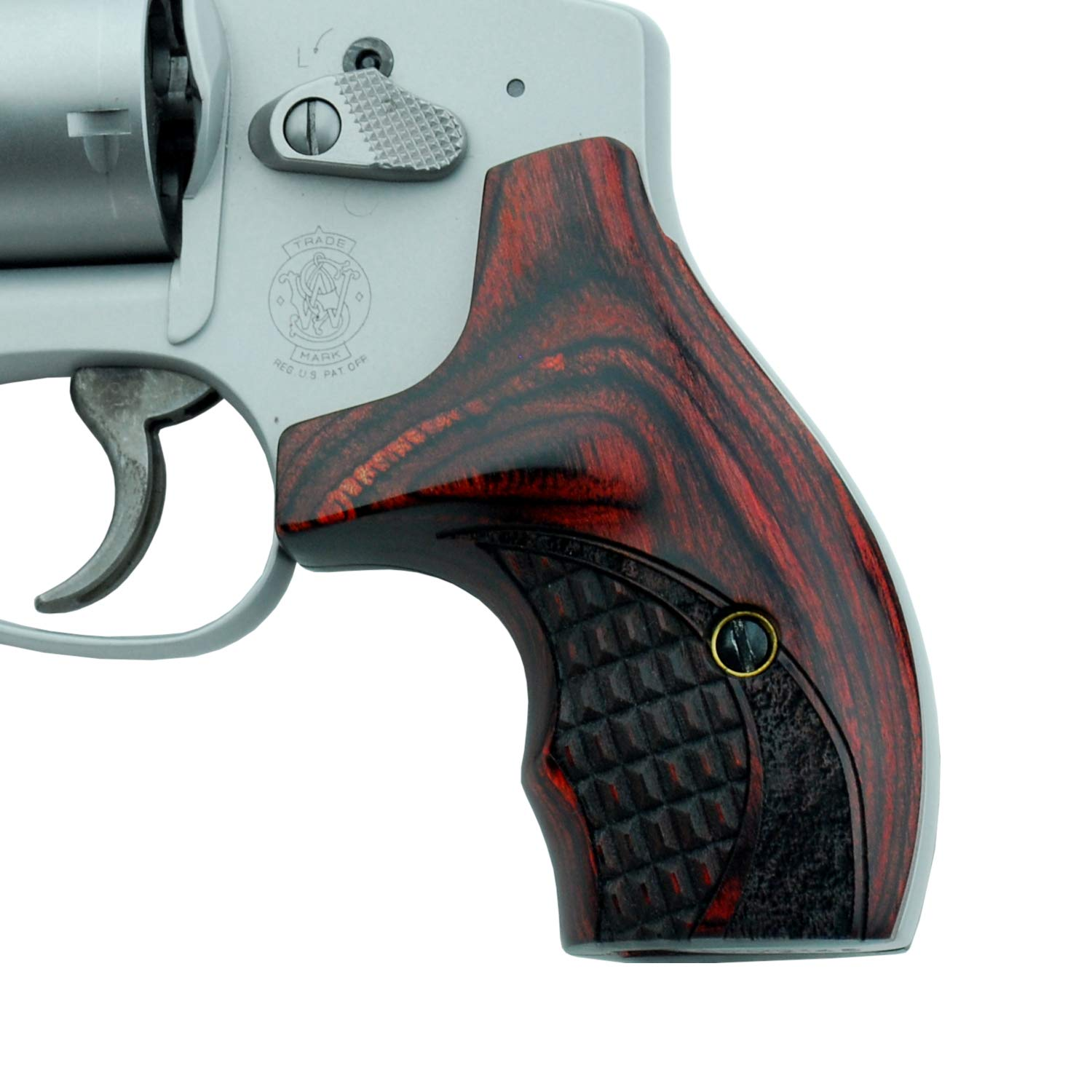 Altamont - S&W J Round Revolver Grips - Boot - Real Wood Gun Grips fit  Smith & Wesson J Frame Round Butt  38 Special and 9mm Revolvers - Made in  USA