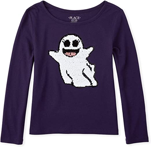 The Childrens Place Girls Big Graphic Sweater