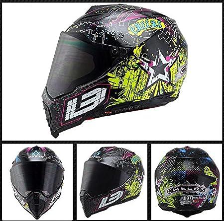 Woljay Off Road Helm Motocross-Helm Motorradhelm Motocrosshelme Fahrrad ATV M, Wei/ß