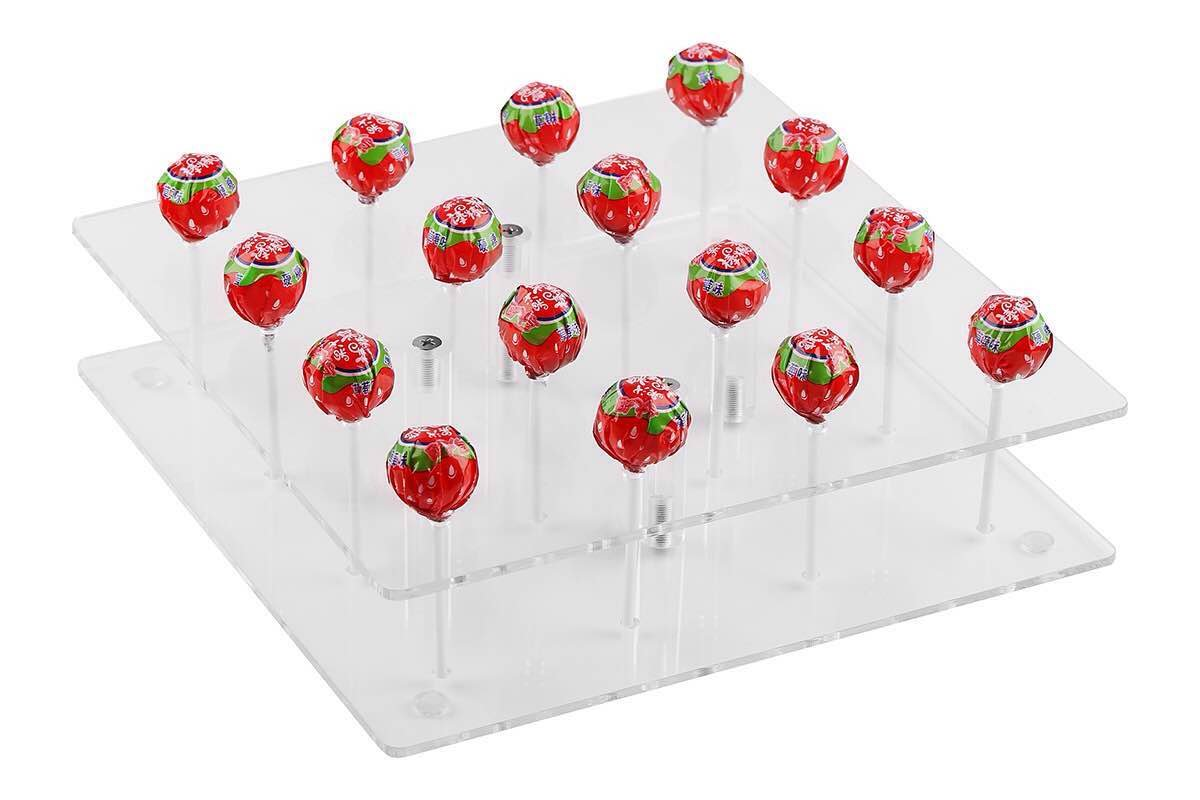 YestBuy Square Shaped Acrylic Cake Pop Stand 1 pc /Pack