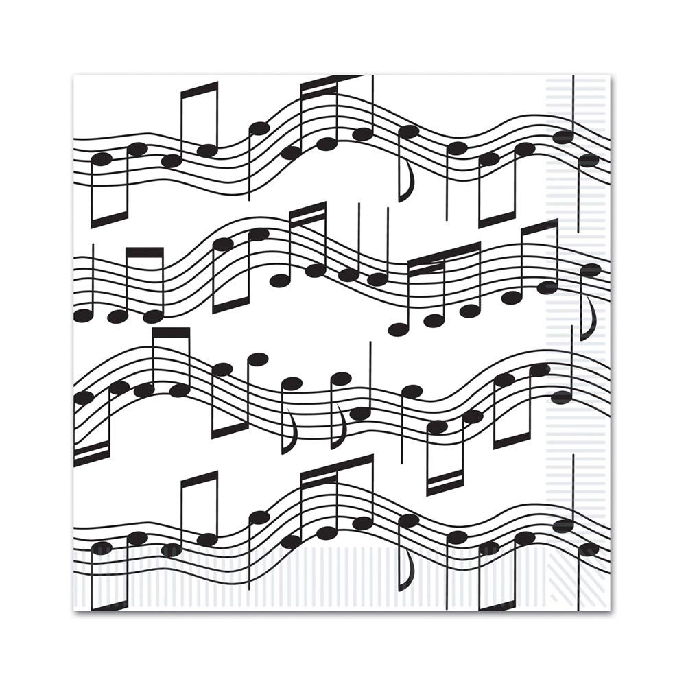 Pack - 58113 Beistle s Music Musical Note Napkin 6 Retail Unit L