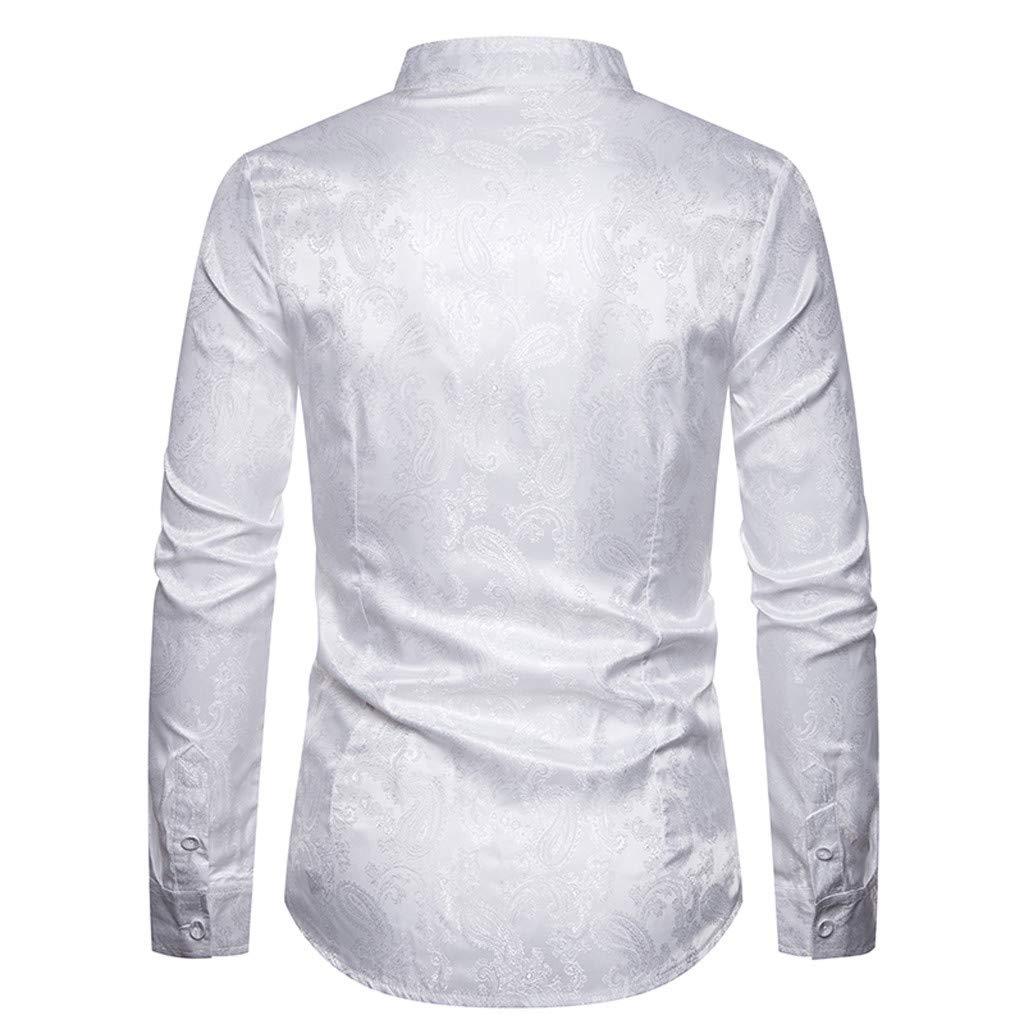 DEDREAM 2019 Mens Soft Casual Senior Lapel Diamond Velvet T Shirt Top Blouse White