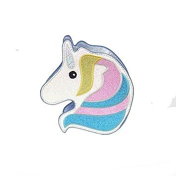 HAPPYX Unicom Solo Bolso de Hombro, láser Linda Estilo Animal de Dibujos Animados con Cremallera Cartera Bolso Bolso Embrague Bolsa Cruzada: Amazon.es: ...