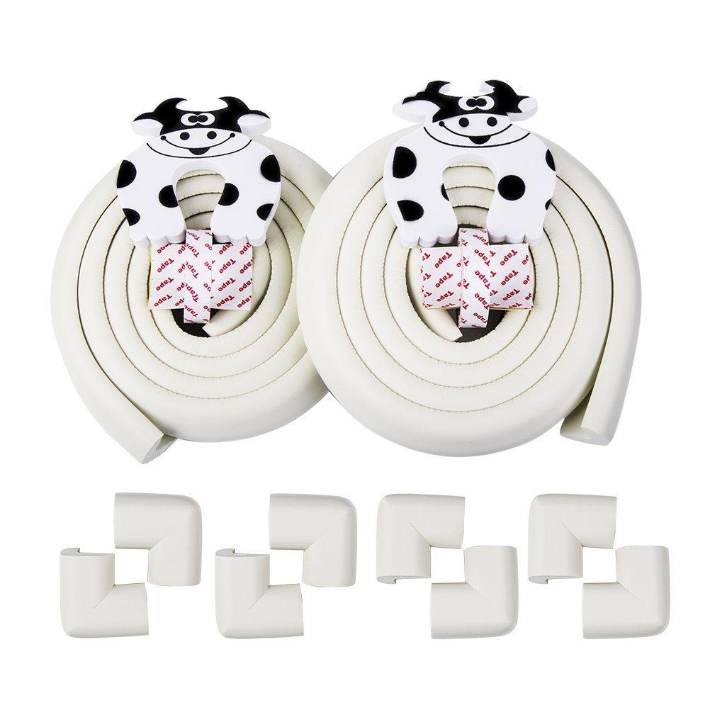 Vicloon - 4 piezas Cubiertas de Tapa Protección de Perilla de Estufa de Gas / Universal Cerradura de Seguridad para Niños Bebé,Translúcido MYYP1-RQXNBHG-001
