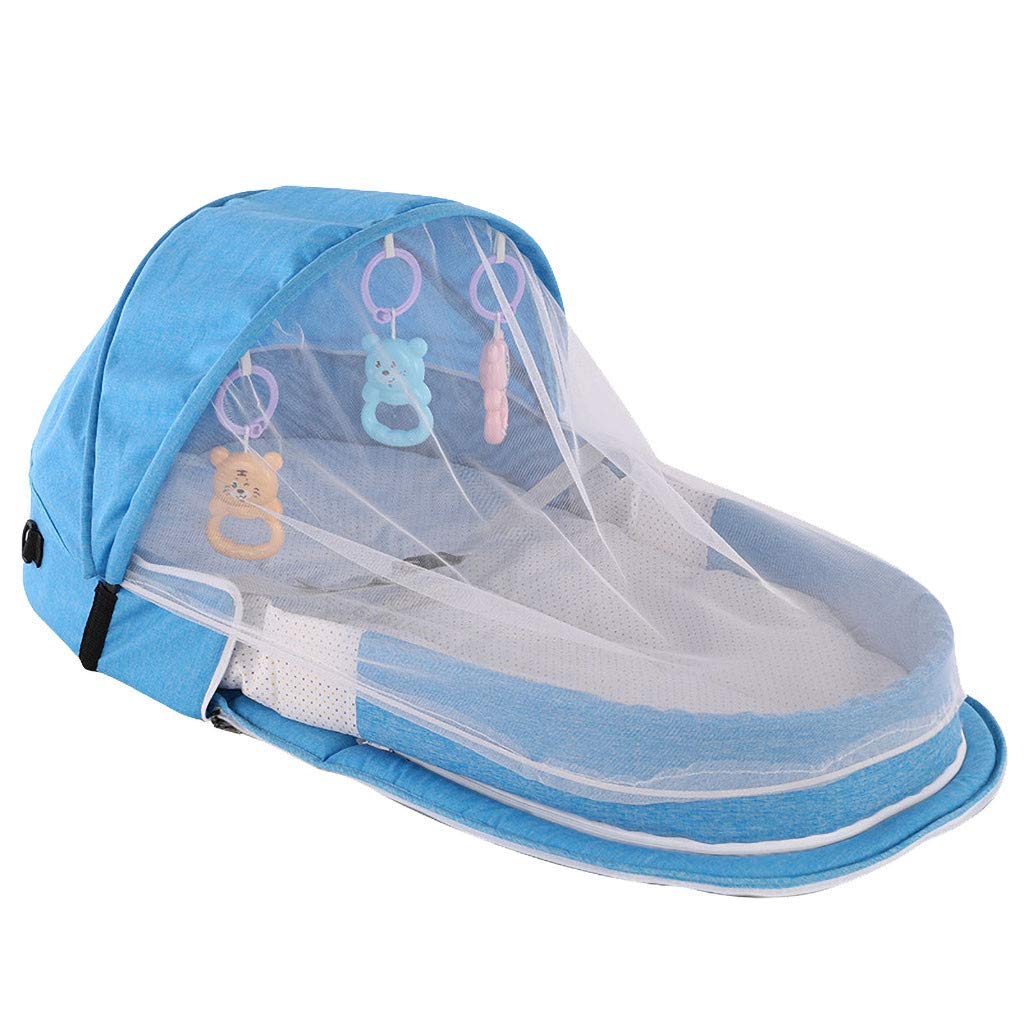Gray 2020 New Travel Baby Bed Large Baby Tent Infant Sun Shelters Pop Up Folding Travel Bed Mosquito Net Sunshade Portable Baby Travel Tent UPF 50