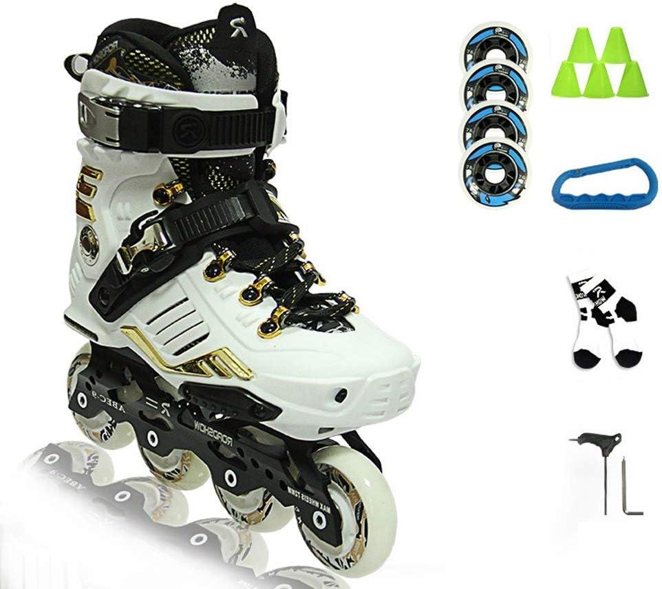 XZ15 アダルト快適なインラインスケート、男子と女子スピードスケートの靴、単一の行スケート、高性能学生専門のローラースケート(白と黒) (Color : #1, Size : EU 40/US 7.5/UK 6.5/JP 25cm) #1 EU 40/US 7.5/UK 6.5/JP 25cm