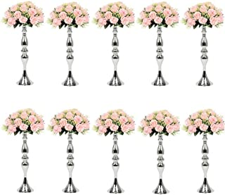 Sfeexun 10Pcs Versatile Metal Flower Arrangement & Candle Holder Stand Set Candlelabra for Wedding Party Dinner Centerpiece Event Restaurant Hotel Decoration