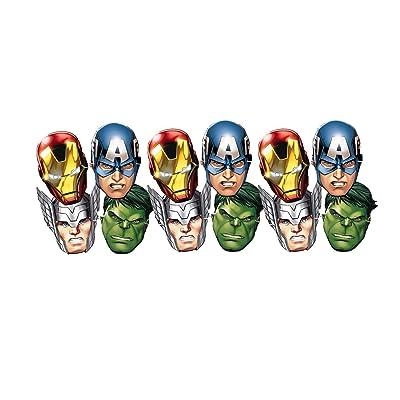 ALMACENESADAN 0554, Pack 12 caretas Avengers, para Fiestas y cumpleaños: Juguetes y juegos