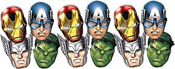 ALMACENESADAN 0554, Pack 12 caretas Avengers, para Fiestas y ...