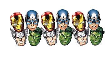 ALMACENESADAN 0554, Pack 12 caretas Avengers, para ...