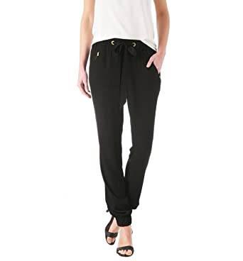 d53ab8e6bfd74e Promod Pantalon fluide/jogging chic Noir 38: Amazon.fr: Vêtements et ...