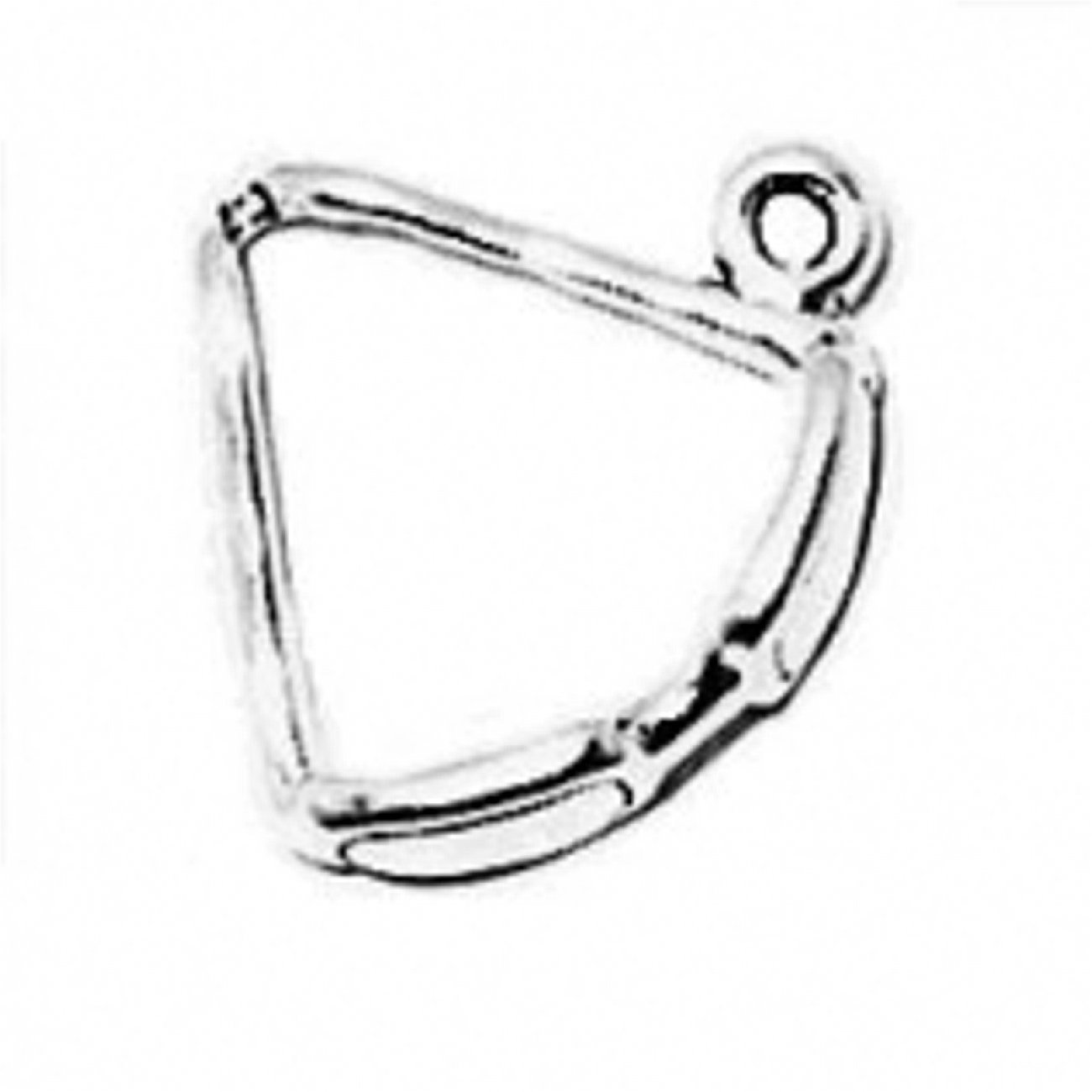 Sterling Silver Girls .8mm Box Chain 3D Mens Sunglass Pendant Necklace Sides Touching