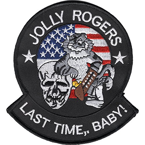 (VF-103 Fighter Squadron Patch Jolly Rogers Last Time, Baby)