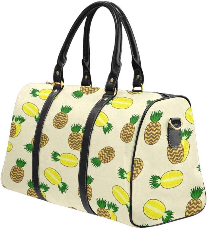 Flight Bag Gym Bag Summer Exotic Fruits Cartoon Pineapple InterestPrint Large Duffel Bag