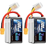 Zeee 14.8V 120C 1300mAh 4S RC Lipo Battery Graphene Battery with XT60 Plug for FPV Racing Drone Quadcopter Helicopter…