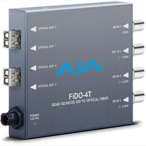 AJA FiDO-4T Quad SD/HD/3G SDI to Optical Fiber Mini Converter (FIDO-4T) by Aja