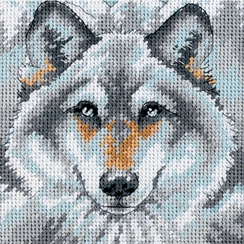 Dimensions Needlepoint Kit, Call of The Wolf' Needlepoint, 5'' W x 5'' -