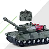 Aland Mini Electric Wireless Remote Controlled Tank Toy Simulation Military Model