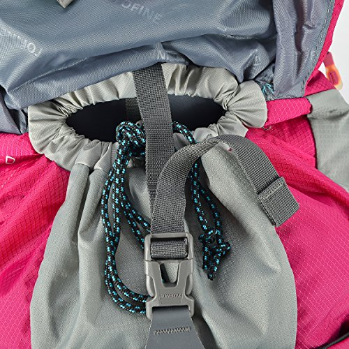 Tofine External Frame Backpack Waterproof All Purpose Survival Backpacking with Lightweight Rain Cover Dry Bag 48 Liter by Tofine (Image #5)