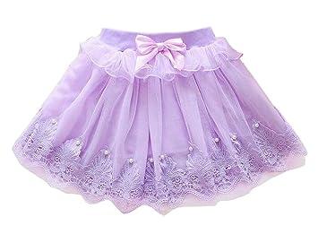 24station [A] Falda de tutú para niña Falda de Princesa de Tul ...