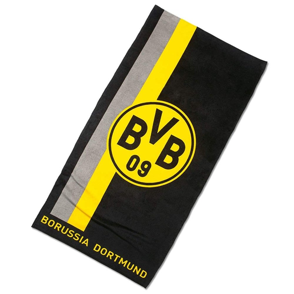 BVB ドルトムント バスタオル(ロゴ&ストライプ) 140×70cm BVB16800900 B01GUHWVX0