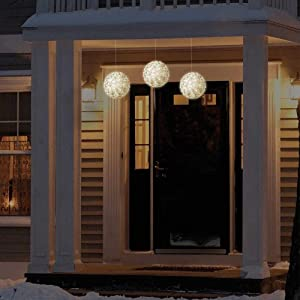 """GE Energy Smart Indoor/Outdoor 3 pack 5.5"""" Warm White LED Spheres Total 150 Energy Smart LED lights with Constant ON Feature"""