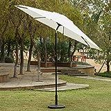 Sunnyglade 9' Patio Umbrella Outdoor Table Umbrella with 8 Sturdy Ribs