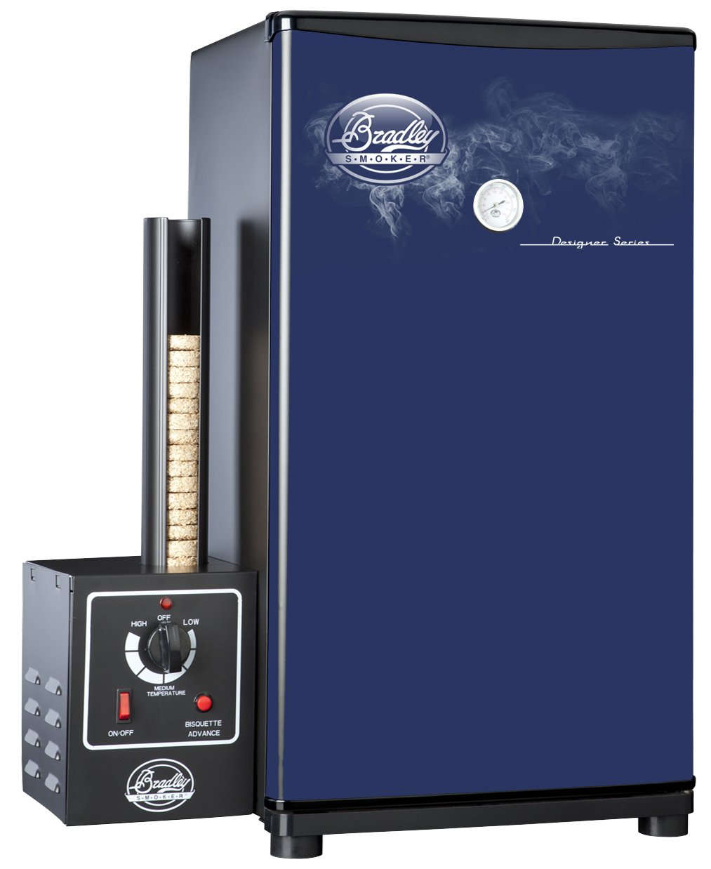 Bradley Technologies Designer Series 4 Rack Original Smoker Stove, Blue by Bradley Smoker
