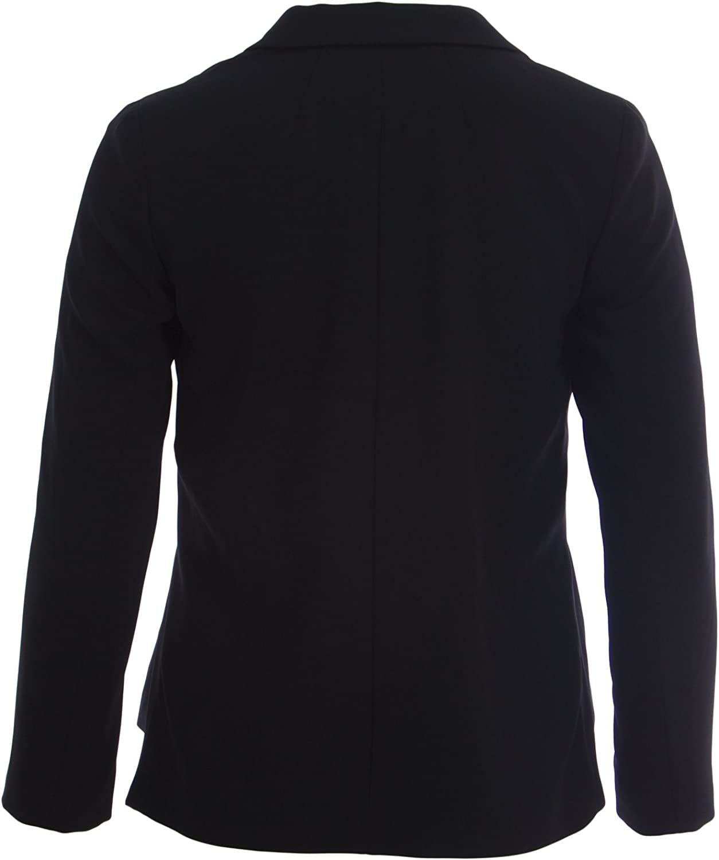 Marina Rinaldi Womens Cocomero Hidden Snap Blazer 10W 19 Black