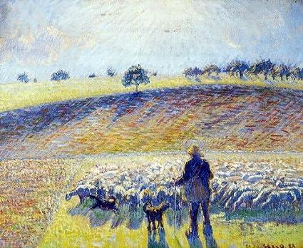 Amazon com: Camille Pissarro Shepherd and Sheep - 16
