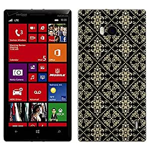 Skin Decal for Nokia Lumia 929 - Victorian Pattern Beige on Black