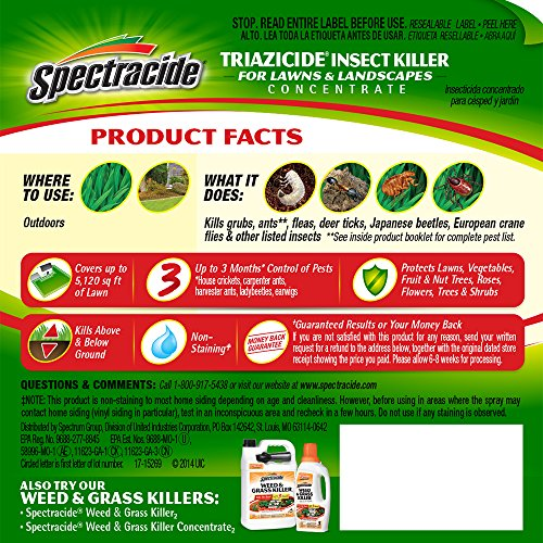 071121958303 - Spectracide HG-95830 Triazicide Insect Killer for Lawns & Landscapes Concentrate, Ready-to-Spray carousel main 1
