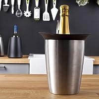 Vacu Vin 3647360 Rinfrescatore Rigido Champagne, Acciaio Inossidabile, Argento