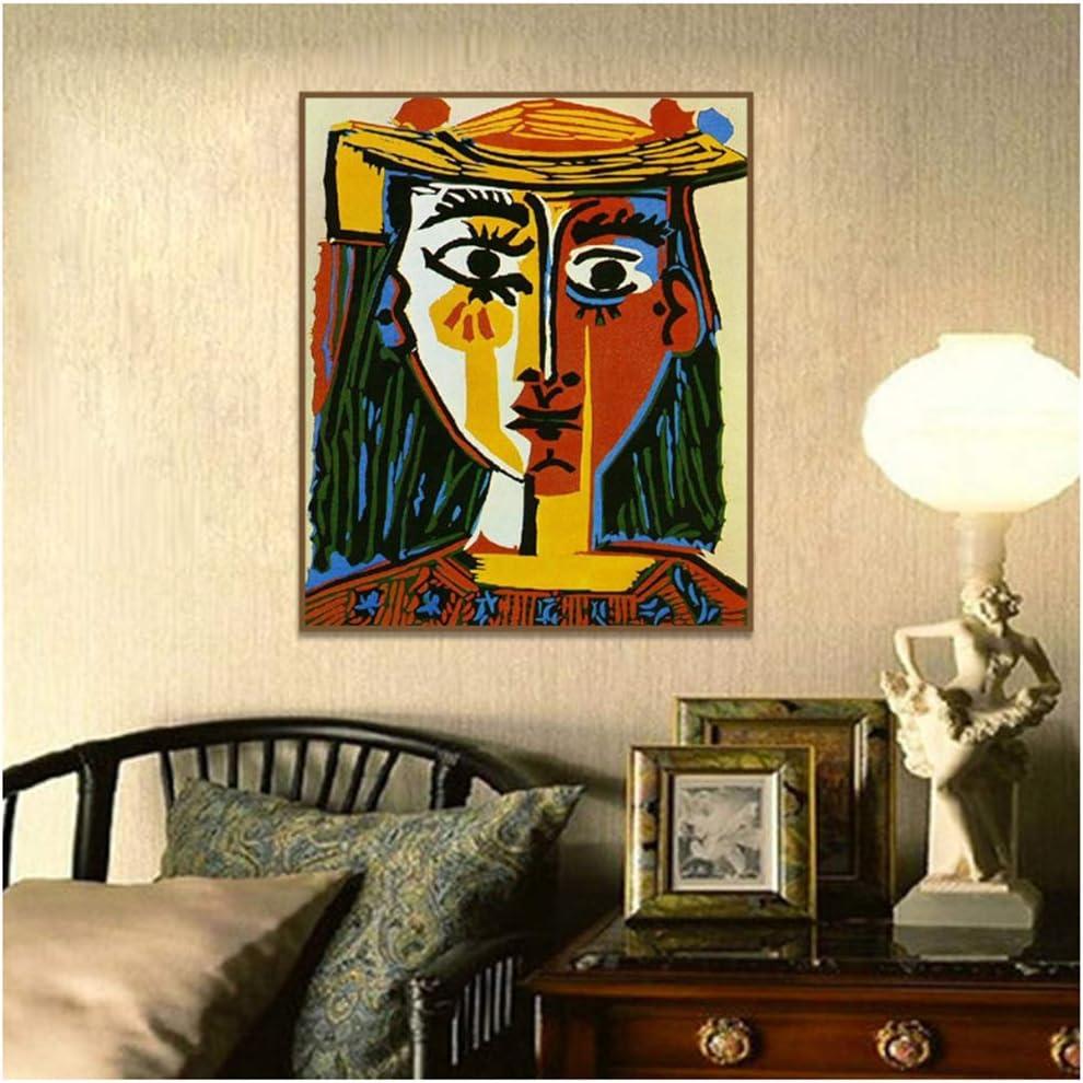 Impresión Moderna en Lienzo Cubismo Arte de la Pared Decoración Carteles e Impresiones Arte de la Pared Pintura sobre Lienzo Sala de Estar Decoración para el hogar 19,6